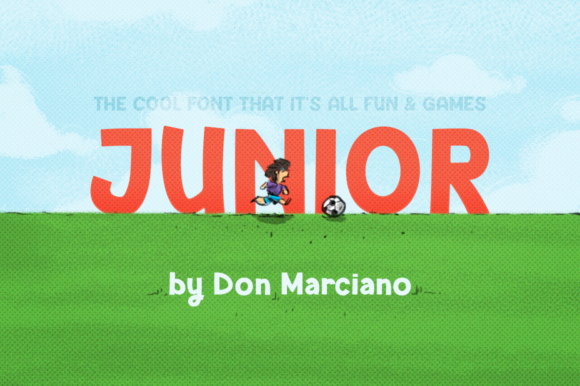 Print on Demand: Junior Display Font By DonMarciano