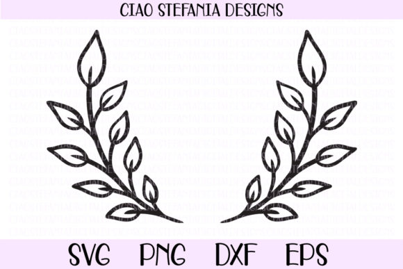 Download Free Laurel Wreath Wedding Frame Graphic By Ciaostefaniadigital for Cricut Explore, Silhouette and other cutting machines.