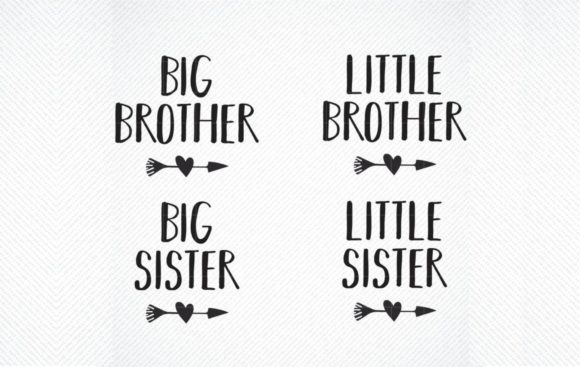 Download Free Little Brother Big Sister Siblings Graphic By Svg Den SVG Cut Files