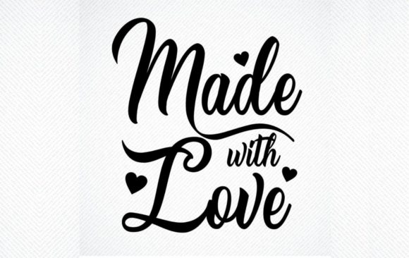 Download Free Made With Love Handmade Tag Graphic By Svg Den Creative Fabrica for Cricut Explore, Silhouette and other cutting machines.