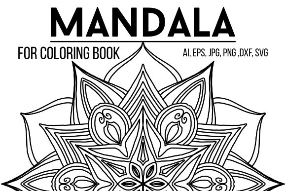 Print on Demand: Mandala Design 16 Graphic Coloring Pages & Books Adults By stanosh - Image 1