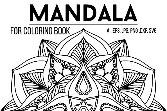 Print on Demand: Mandala Design 17 Graphic Coloring Pages & Books Adults By stanosh - Image 1