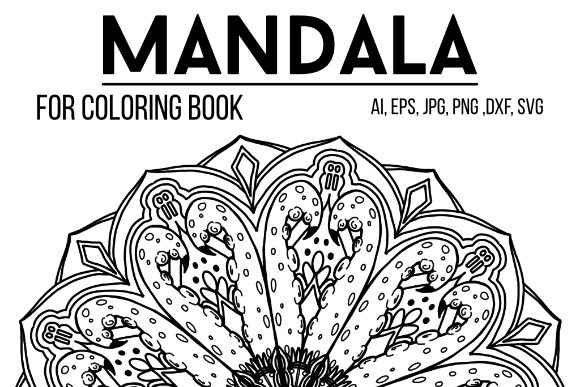 Print on Demand: Mandala Graphics 25 Graphic Coloring Pages & Books Adults By stanosh - Image 1