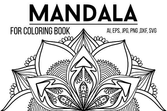 Print on Demand: Mandala Design 14 Graphic Coloring Pages & Books Adults By stanosh - Image 1