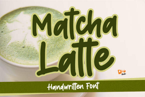 Print on Demand: Matcha Latte Manuscrita Fuente Por dmletter31