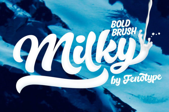 Print on Demand: Milky Script & Handwritten Font By fenotypefonts