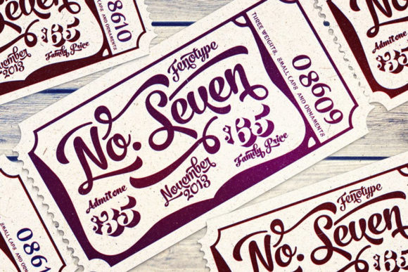 Print on Demand: No. Seven Script & Handwritten Font By fenotypefonts