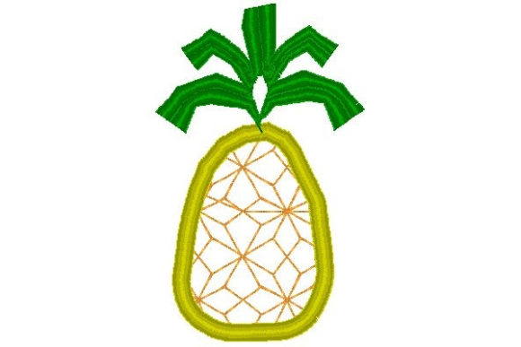 Pineapple Food & Dining Embroidery Design By Sue O'Very Designs