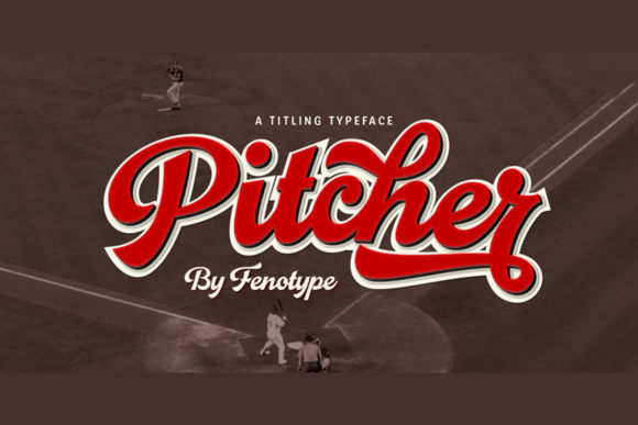 Print on Demand: Pitcher Script & Handwritten Font By fenotypefonts
