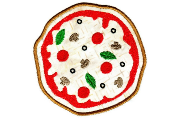 Pizza Party Food & Dining Embroidery Design By Sue O'Very Designs