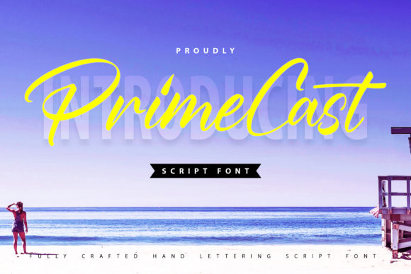 Print on Demand: PrimeCast Script & Handwritten Font By Vunira