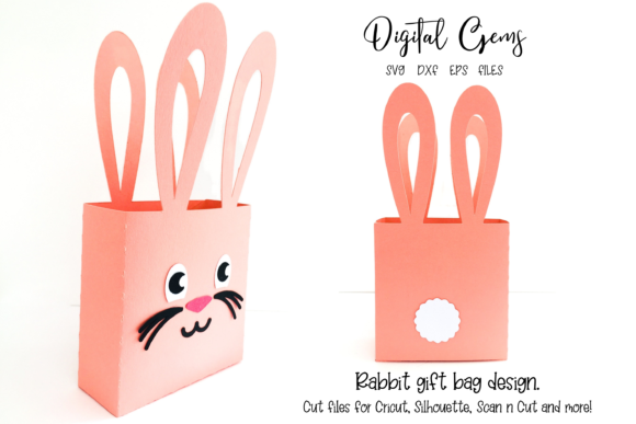 Rabbit Gift Bag Design Graphic 3D SVG By Digital Gems