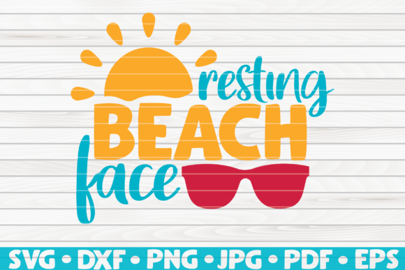 Resting Beach Face | Summertime Vector Graphic Graphic Templates By mihaibadea95