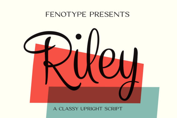 Print on Demand: Riley Script & Handwritten Font By fenotypefonts