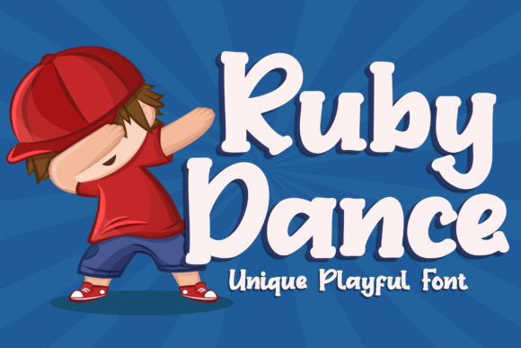 Print on Demand: Ruby Dance Display Font By LetterBeary