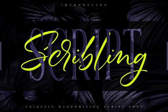 Print on Demand: Scribbling Script & Handwritten Font By Vunira