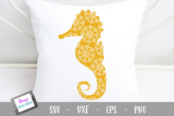 Download Free Seahorse Seahorse With Mandala Graphic By Stacysdigitaldesigns for Cricut Explore, Silhouette and other cutting machines.