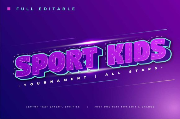 Print on Demand: Sport Event Text Effect Gráfico Add-ons Por twinletter