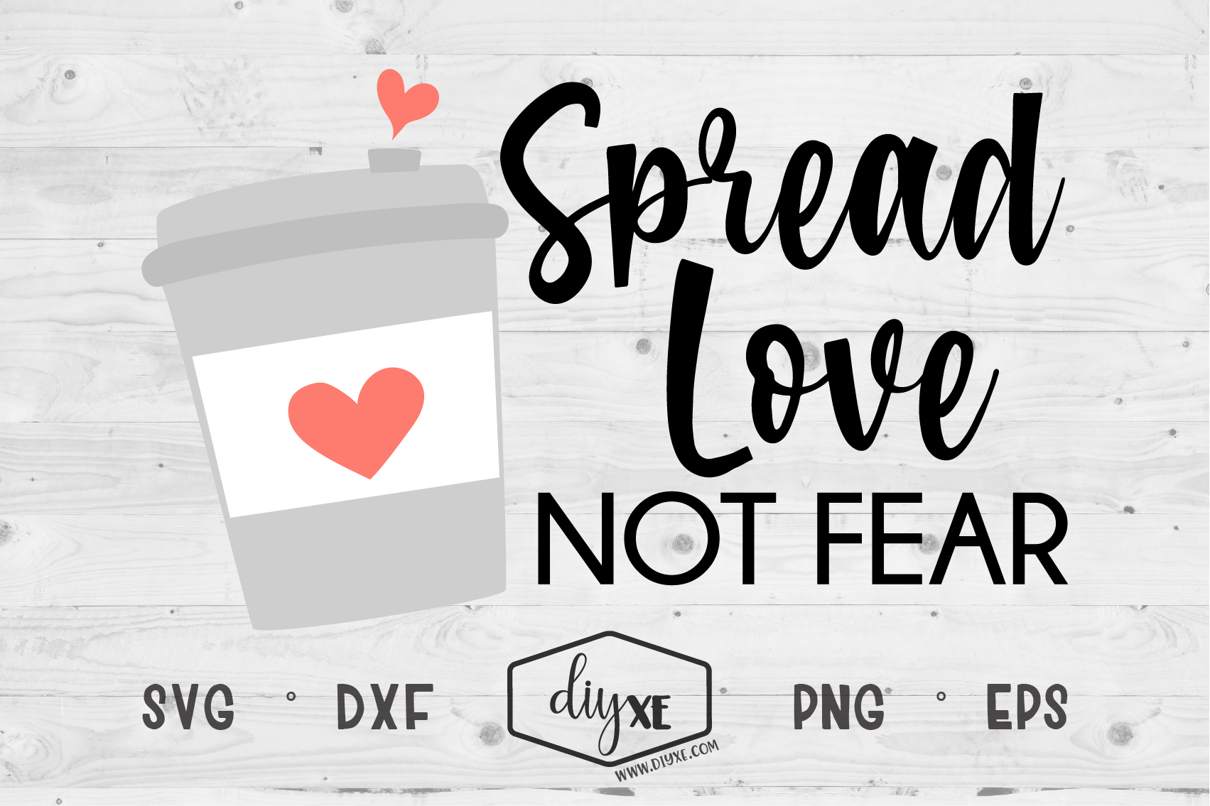 Download Free Spread Love Not Fear Grafik Von Sheryl Holst Creative Fabrica for Cricut Explore, Silhouette and other cutting machines.