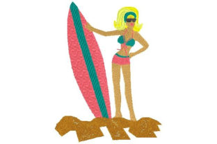 Surf Chick Beach & Nautical Embroidery Design By Sookie Sews