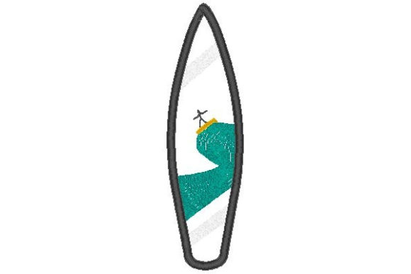 Surfboard Applique Beach & Nautical Embroidery Design By Sue O'Very Designs