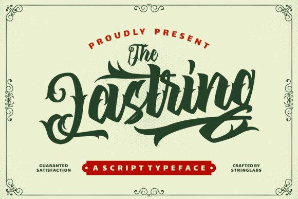 Print on Demand: The Lastring Decorative Font By StringLabs