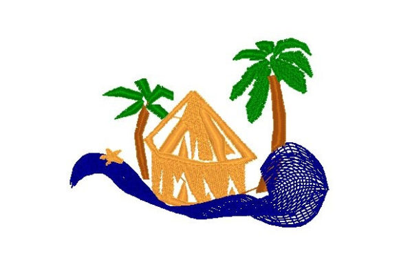 Tiki Beach & Nautical Embroidery Design By Sue O'Very Designs