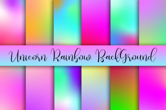 Unicorn Rainbow Background Digital Paper Graphic Backgrounds By PinkPearly