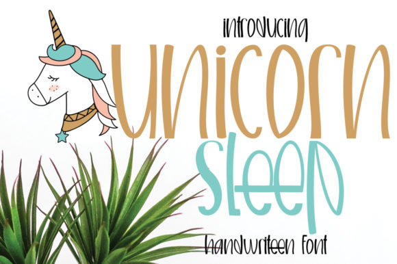 Print on Demand: Unicorn Sleep Script & Handwritten Font By edwar.sp111