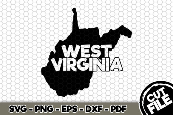 Print on Demand: West Virginia State Name Graphic Crafts By SVGExpress