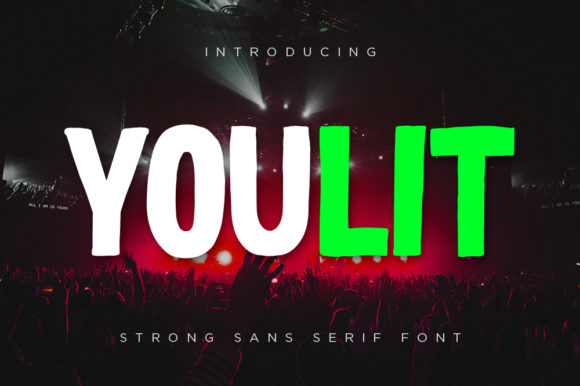 Print on Demand: Youlit Display Font By thetrendingfonts
