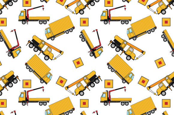 Download Free Crane Truck Pattern Graphic By Curutdesign Creative Fabrica for Cricut Explore, Silhouette and other cutting machines.