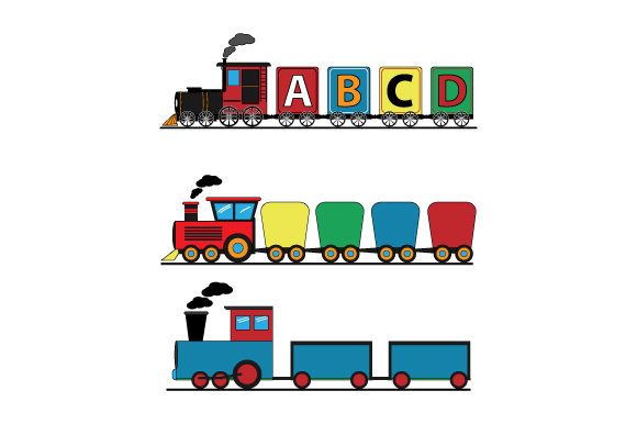 Download Free Train Graphic By Curutdesign Creative Fabrica for Cricut Explore, Silhouette and other cutting machines.