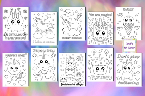 Download Free 10 Printable Coloring Books For Kids Creative Fabrica for Cricut Explore, Silhouette and other cutting machines.