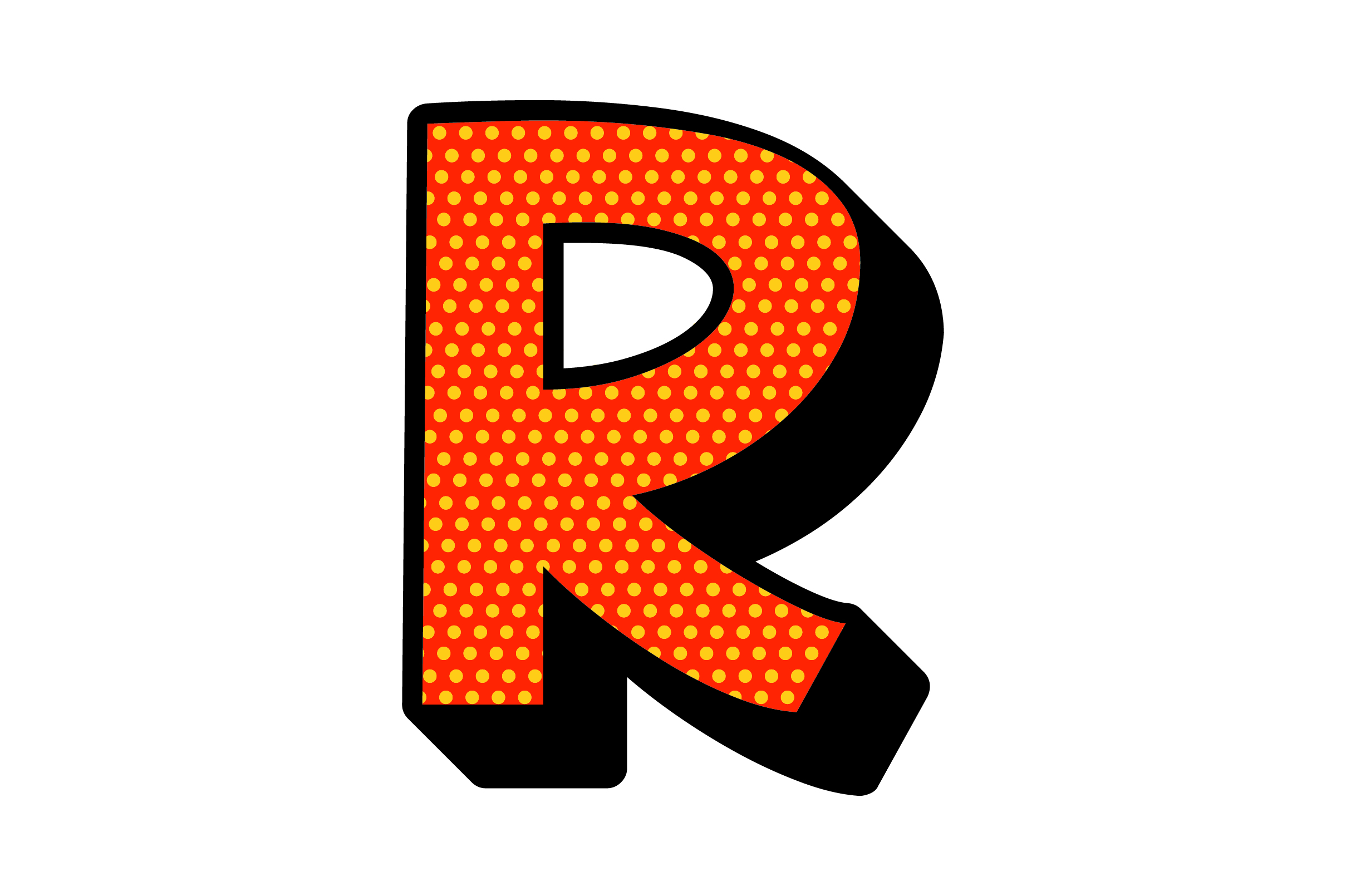 Download Free Comic Pop Art Alphabet R Svg Cut File By Creative Fabrica for Cricut Explore, Silhouette and other cutting machines.
