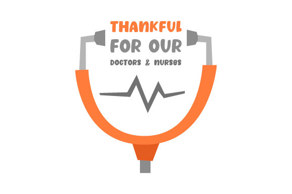 Download Free Thankful For Our Doctors Nurses Svg Cut File By Creative for Cricut Explore, Silhouette and other cutting machines.