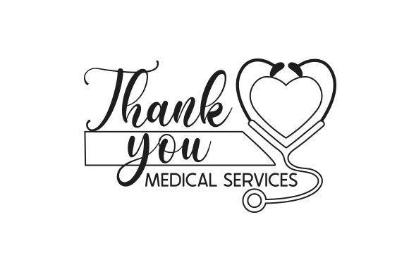 Thank You Medical Services Awareness Craft Cut File By Creative Fabrica Crafts - Image 2
