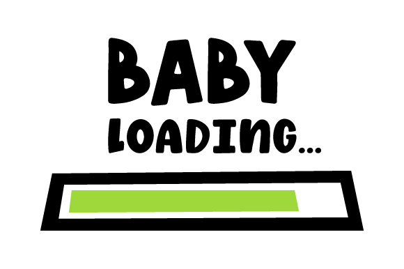 Baby Loading... Baby Craft Cut File By Creative Fabrica Crafts - Image 1