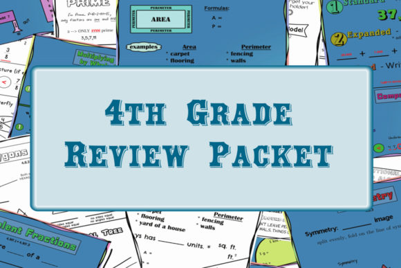 4th Grade Math Review Packet Mega Bundle Graphic 4th grade By shogan