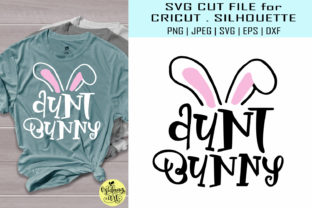 Download Free Aunt Bunny Easter Shirt Graphic By Midmagart Creative Fabrica SVG Cut Files