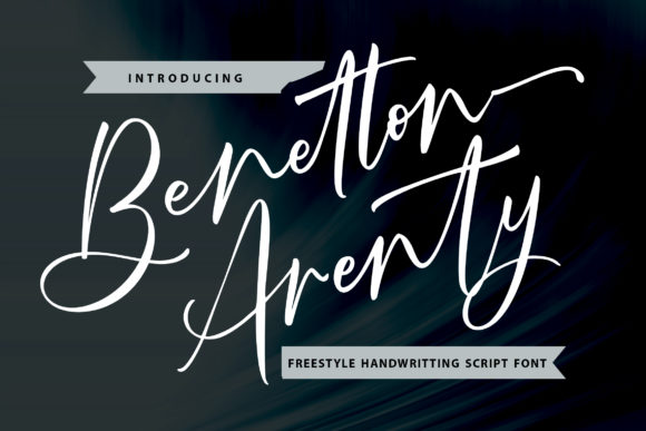 Print on Demand: Benetton Arenty Script & Handwritten Font By Vunira