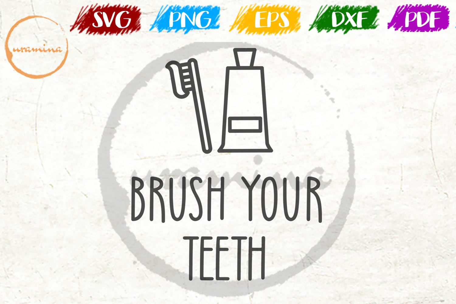 Download Free Brush Your Teeth Graphic By Uramina Creative Fabrica for Cricut Explore, Silhouette and other cutting machines.