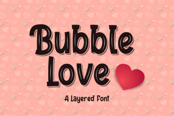 Print on Demand: Bubble Love Display Fuente Por sabrcreative