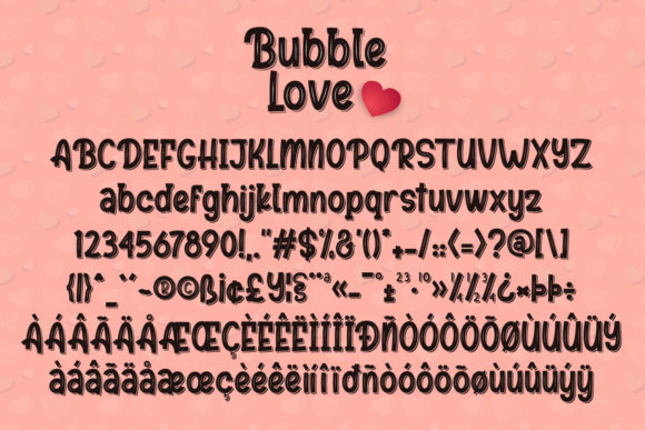 Print on Demand: Bubble Love Display Font By sabrcreative - Image 10