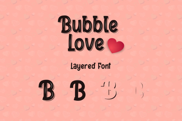 Print on Demand: Bubble Love Display Font By sabrcreative - Image 2
