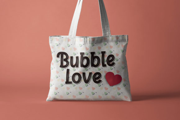 Print on Demand: Bubble Love Display Font By sabrcreative - Image 7