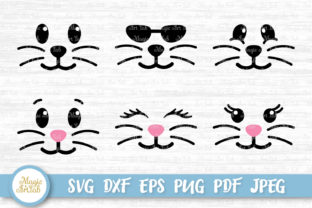Download Free Bunny Face Graphic By Magicartlab Creative Fabrica for Cricut Explore, Silhouette and other cutting machines.
