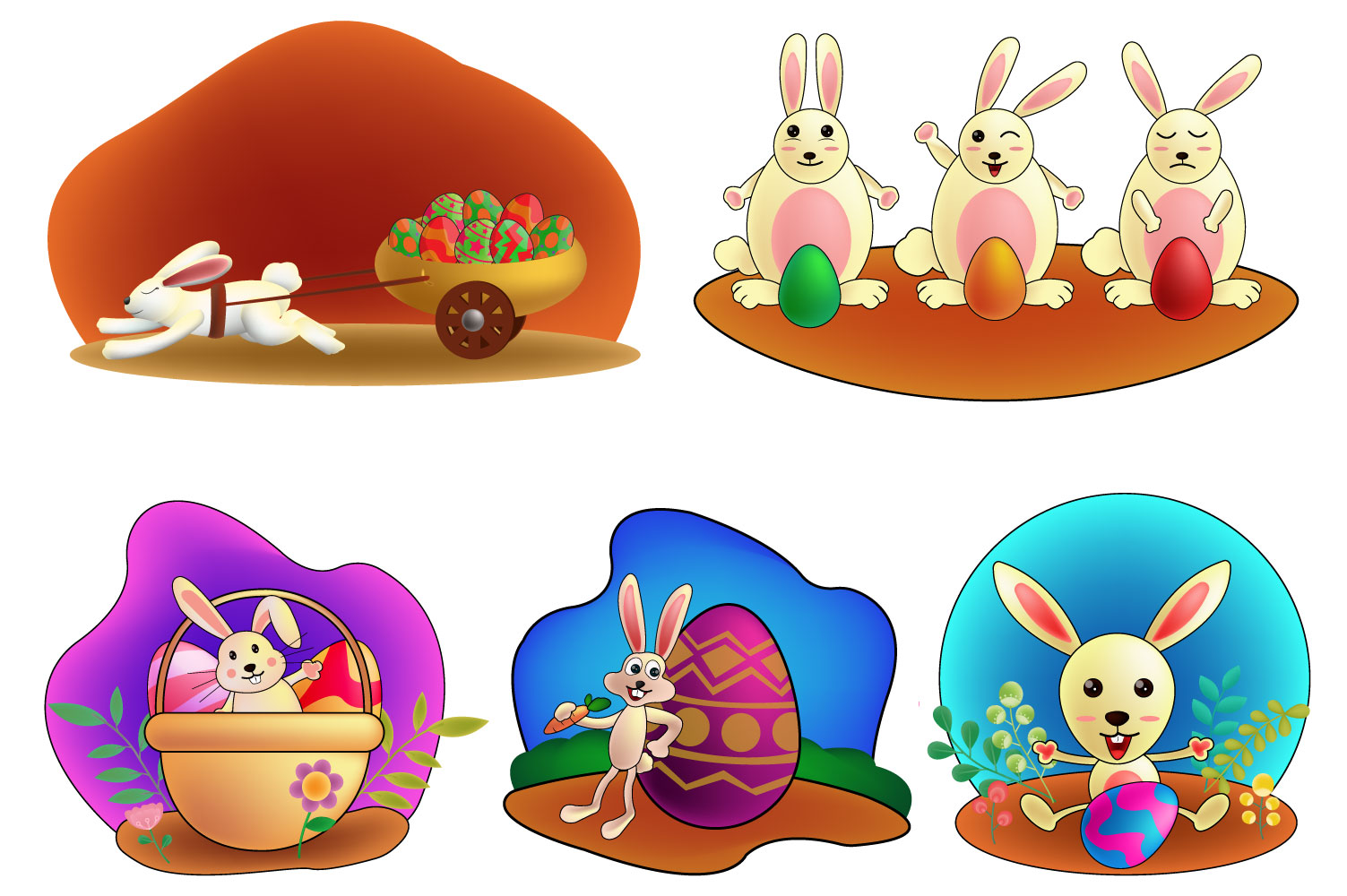 Download Free Cartoon Little Bunny Holding Easter Egg Graphic By Iop Micro Creative Fabrica for Cricut Explore, Silhouette and other cutting machines.