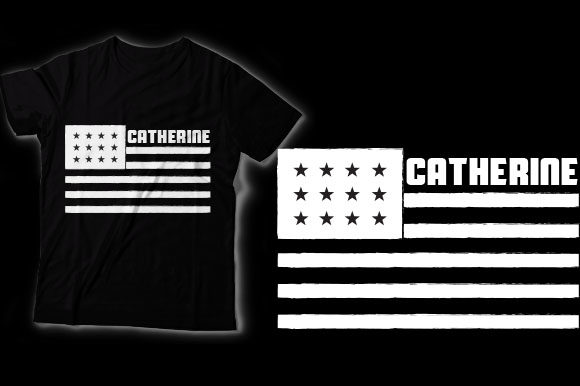 Download Catherine American Flag