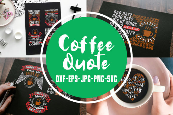 Download Free Coffee Quotes Vol 4 Graphic By Tosca Digital Creative Fabrica for Cricut Explore, Silhouette and other cutting machines.